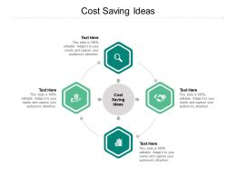 Cost Saving Ideas Ppt Powerpoint Presentation File Introduction Cpb