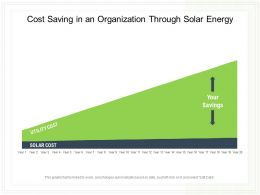 Cost Saving In An Organization Through Solar Energy