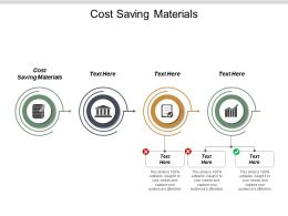 Cost Saving Materials Ppt Powerpoint Presentation File Graphics Example Cpb