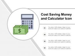 Cost Saving Money And Calculator Icon