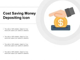 Cost Saving Money Depositing Icon