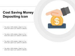 Cost Saving Money Depositing Icon