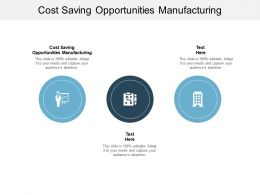Cost Saving Opportunities Manufacturing Ppt Powerpoint Presentation Gallery Cpb