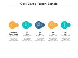 Cost Saving Report Sample Ppt Powerpoint Presentation Icon Gallery Cpb