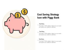 Cost Saving Strategy Icon With Piggy Bank