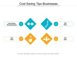 Cost Saving Tips Businesses Ppt Powerpoint Presentation Styles Design Templates Cpb