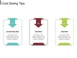Cost Saving Tips Ppt Powerpoint Presentation File Guidelines Cpb