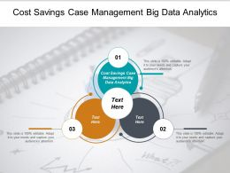 Cost Savings Case Management Big Data Analytics Ppt Powerpoint Presentation Summary Microsoft Cpb