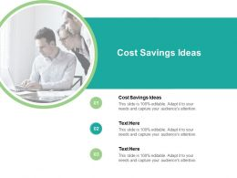 Cost Savings Ideas Ppt Powerpoint Presentation Portfolio Slide Portrait Cpb