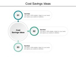 Cost Savings Ideas Ppt Powerpoint Presentation Summary Show Cpb