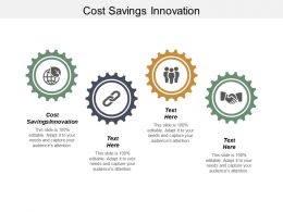 Cost Savings Innovation Ppt Powerpoint Presentation Ideas Design Inspiration Cpb