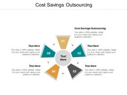 Cost Savings Outsourcing Ppt Powerpoint Presentation Infographic Template Smartart Cpb