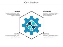 Cost Savings Ppt Powerpoint Presentation Ideas Graphics Design Cpb