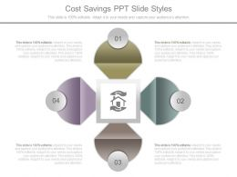 Cost Savings Ppt Slide Styles