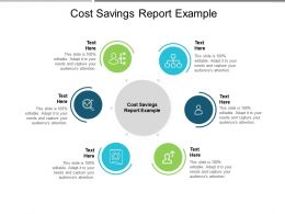 Cost Savings Report Example Ppt Powerpoint Presentation Layouts Graphics Template Cpb