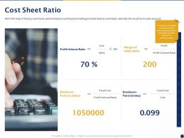Cost Sheet Ratio Ppt Powerpoint Presentation Ideas File Formats