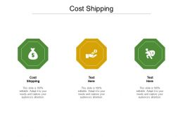 Cost Shipping Ppt Powerpoint Presentation Portfolio Gallery Cpb