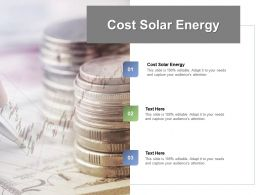 Cost Solar Energy Ppt Powerpoint Presentation Outline Picture Cpb