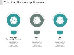 Cost Start Partnership Business Ppt Powerpoint Presentation Gallery Picture Cpb