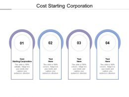 Cost Starting Corporation Ppt Powerpoint Presentation Professional Tips Cpb