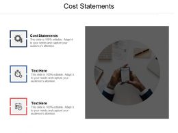 Cost Statements Ppt Powerpoint Presentation File Guide Cpb