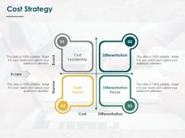 Cost Strategy Differentiation Ppt Powerpoint Presentation Pictures Mockup