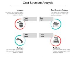 Cost Structure Analysis Ppt Powerpoint Presentation File Backgrounds Cpb