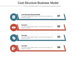 Cost Structure Business Model Ppt Powerpoint Presentation File Ideas Cpb