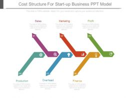 Cost Structure For Start Up Business Ppt Model