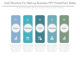 Cost Structure For Start Up Business Ppt Powerpoint Slides