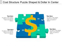 Cost Structure Puzzle Shaped And Dollar In Center