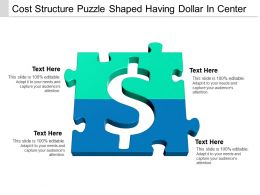 Cost Structure Puzzle Shaped Having Dollar In Center