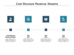 Cost Structure Revenue Streams Ppt Powerpoint Presentation Slides Guidelines Cpb