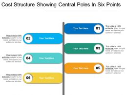 Cost Structure Showing Central Poles In Six Points