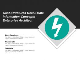 Cost Structures Real Estate Information Concepts Enterprise Architect