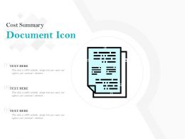 Cost Summary Document Icon