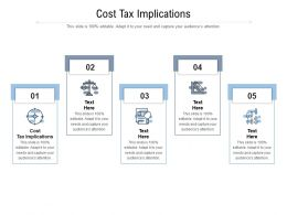 Cost Tax Implications Ppt Powerpoint Presentation Summary Slide Cpb