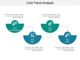 Cost Trend Analysis Ppt Powerpoint Presentation Infographic Template Icons Cpb