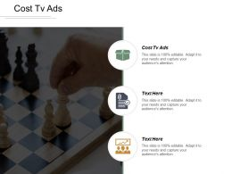 Cost Tv Ads Ppt Powerpoint Presentation Gallery Slides Cpb