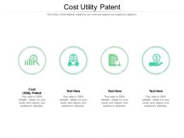 Cost Utility Patent Ppt Powerpoint Presentation Styles Pictures Cpb