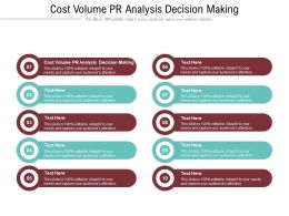 Cost Volume PR Analysis Decision Making Ppt Powerpoint Presentation Portfolio Guidelines Cpb