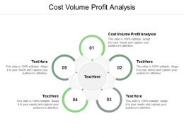 Cost Volume Profit Analysis Ppt Powerpoint Presentation Summary Visuals Cpb
