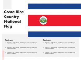 Costa Rica Country National Flag