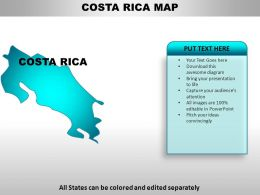Costa Rica Country Powerpoint Maps