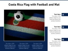 Costa Rica Flag With Football And Mat