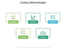 Costing Methodologies Ppt Powerpoint Presentation Icon Slideshow Cpb
