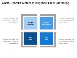 Costs Benefits Market Intelligence Email Marketing Social Networking