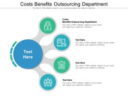 Costs Benefits Outsourcing Department Ppt Powerpoint Presentation Portfolio Deck Cpb