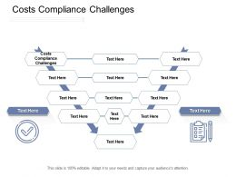 Costs Compliance Challenges Ppt Powerpoint Presentation Professional Good Cpb