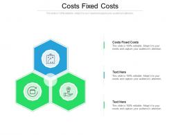 Costs Fixed Costs Ppt Powerpoint Presentation Icon Gallery Cpb